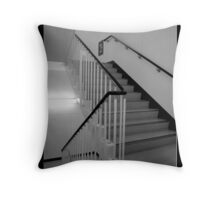 Quiet Stairwell Throw Pillow