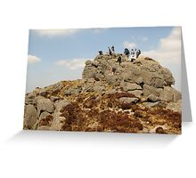 Climbing in The Comeraghs Greeting Card