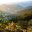 Sunrise Over Gatlinburg, Tennessee GSMNP by NatureGreeting Cards ccwri