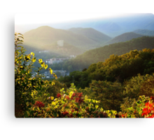 Sunrise Over Gatlinburg, Tennessee GSMNP Canvas Print