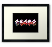 RETRO. 3D Typography cool 1980s/80s Design. Framed Print