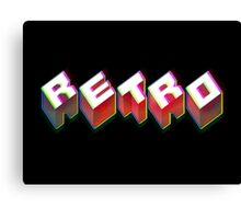 RETRO. 3D Typographical cool 1980s/80s Design. Canvas Print