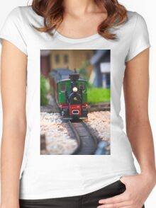 Toy Train II ~ Minatures Series Women's Fitted Scoop T-Shirt