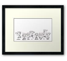 Dancey Dance Framed Print