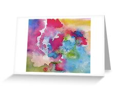 Rainbow Watercolor Paint Bleeds Greeting Card