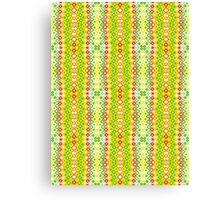 Red, Yellow, Green and White Abstract Design Canvas Print