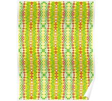 Red, Yellow, Green and White Abstract Design Poster