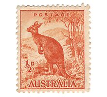 Old Australian stamp Photographic Print