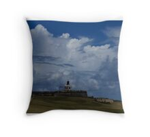 Dramatic Tropical Sky Over Old San Juan, Puerto Rico Throw Pillow