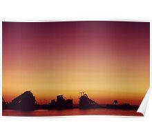 Moreton Island sunset Poster