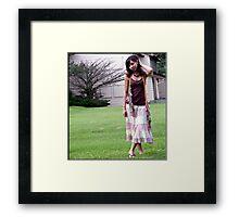 Hippie Girl Framed Print