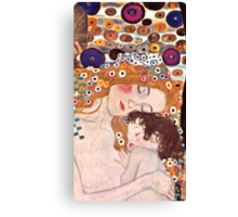 "Cropped Klimt's ""The three ages of a woman"" Canvas Print"
