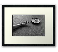 Time Slips Away Framed Print