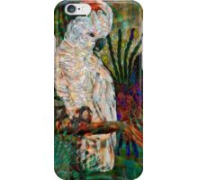 Luminous Pearl Fractalized Cockatiel, by Alma Lee iPhone Case/Skin