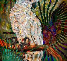 Luminous Pearl Fractalized Cockatiel, by Alma Lee by Alma Lee