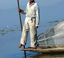 Fisherman Inle Lake (2) by Ian Douglas