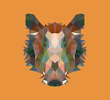 Geometric Boar by KingdomofArt