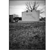Lester's Grave Photographic Print