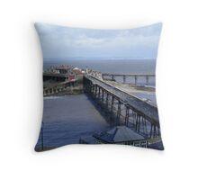 Birnbeck Pier. Throw Pillow