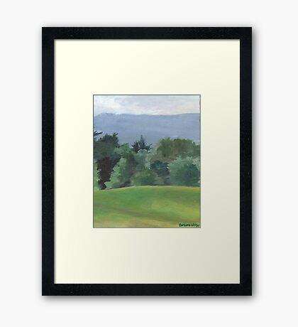 Vermont Hills Framed Print