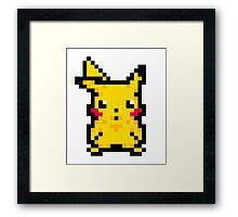 Pikachu - 8 bit Framed Print
