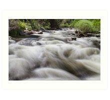 Boulder Creek in Slow Mo Art Print
