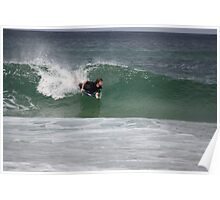me surfing at redhead beach Poster