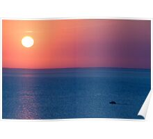 Sunset yacht Poster