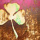 rusty 3-leaf shamrock by Lynne Prestebak