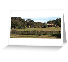 Hill End Fence Line Greeting Card