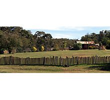 Hill End Fence Line Photographic Print