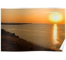 Jutland sunset Poster