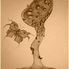 The Omega Plant and The Watchful Butterfly photograph by Helena Wilsen - Saunders