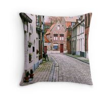 Charming Brugge! Throw Pillow
