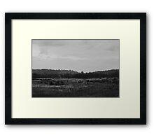 Remote land Framed Print