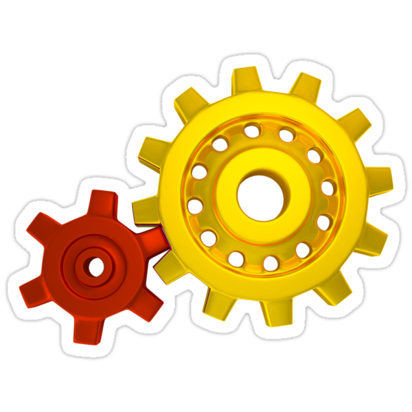Gold and red gears by shkyo30