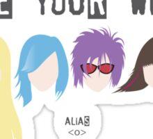 Choose Your Weapon - Alias Sticker