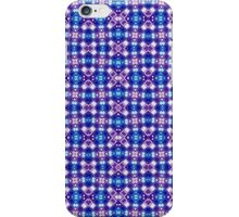 Blue, Purple and White Abstract Design Pattern iPhone Case/Skin