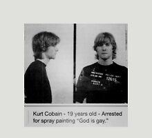 Kurt Cobain Mugshot  Unisex T-Shirt