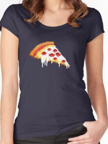 Pizza - 8 bit Women's Fitted Scoop T-Shirt