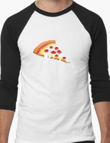 Pizza - 8 bit Men's Baseball ¾ T-Shirt