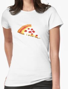 Pizza - 8 bit Womens Fitted T-Shirt