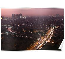 Night descends over central Jakarta Poster