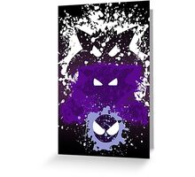 Gastly, Haunter, and Gengar Splatter Greeting Card