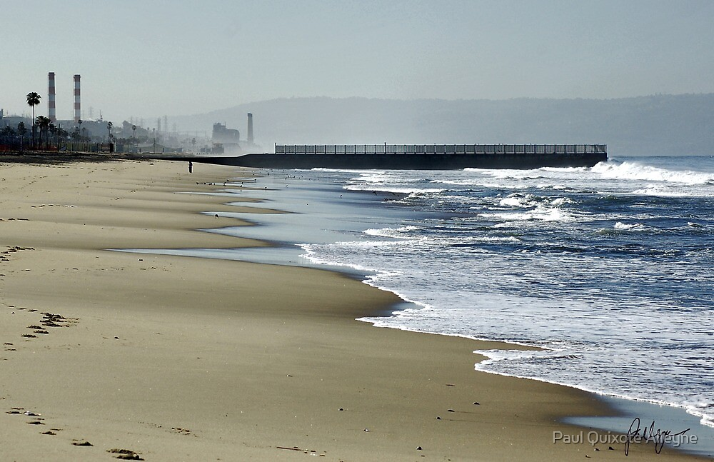 SURF AND SAND AT PLAYA DEL REY by Paul Quixote Alleyne