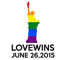 LOVE WINS JUNE 26,2015 Photographic Print