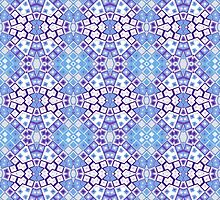 Light Blue, White and Purple Abstract Design by Mercury McCutcheon