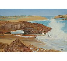 Oil on Canvas, Natures Arch, Limestone Coast, Beachport. S.A.  Photographic Print