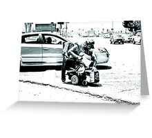 """"""" Get out the way cripple """" Greeting Card"""