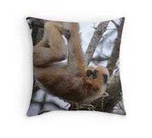 Hanging Around Gibbon-Style Throw Pillow